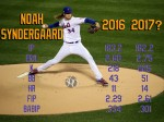 Mets starter Noah Syndergaard delivers a pitch during the NL Wild Card Game.